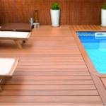 kompozitná doska - plocha pri bazéne